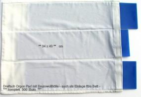 Dreifach Orgonpad mit Baumwollhülle